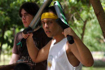 Treino Gladius Swordplay na Praça Omilton Visconde - Larp Boffering na Segmenta